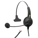 Pliant Technologies PHS-SB11L-U SmartBoom® LITE Single Ear Pliant® Headset with Unterminated Cable