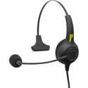Pliant Technologies PHS-SB11LE-DM SmartBoom LITE Single Ear Pliant Headset with Dual 3.5mm Connector