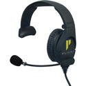 Pliant Technologies PHS-SB110E-DMG SmartBoom PRO Single Ear Headset with Dual 3.5mm Gold Plated Connector