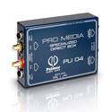 Palmer Audio PLI04 Media DI Box 2 Channel for PC and Laptop
