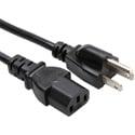 18 AWG IEC Power Cord NEMA 5-15P to IEC320C13 - 10 Foot