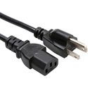 Connectronics 18 AWG IEC Power Cord NEMA 5-15P to IEC-60320-C13 - 6 Foot