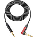 Sescom PRO-SP-SPA-10 Popless Series Guitar & Instrument Cable - 1/4 TS Right Angle Silent Plug to 1/4 TS Plug - 10 Foot