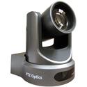 PTZOptics 12x Zoom PTZ Camera - NDI-HX 3G-SDI HDMI CVBS IP Streaming - 72.5 Degree FOV (Gray w /  US Power Supply)