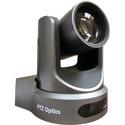 PTZOptics 12x Zoom PTZ Camera - 3G-SDI HDMI CVBS IP Streaming - 1920 x 1080p - 72.5 Degree FOV (Gray) US Style Power