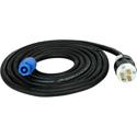 Laird PWRCN-ACIN-50 Neutrik powerCON Locking 3-Pole 15-Amp Type A to AC Wall Plug Power Cable - 50 Foot
