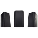QSC AD-S5T 5.25in Two-way Surface-Mount Loudspeaker with 70/100V Transformer & 8 Ohm Bypass - Black - Pair