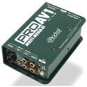 Radial ProAV1 Passive 1 Channel DI w/RCA 3.5mm  XLR & 1/4in Inputs