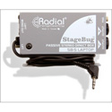 Radial SB-5 Compact Stereo DI For Computers W/ Attached Cable Stereo Or Mono Out