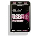 Radial USB-PRO  DI for Laptops - Level Control - Mono Summing - Headphone  Out
