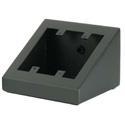 RCI SE200BKTX 2 Gang Black Textured Sloped Desk Top Enclosure