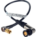 Laird 3G-SDI Right Angle DIN 1.0/2.3 to Right Angle BNC Video Adapter Cable Black - 1 Foot
