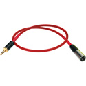 Laird RD1-XM-MPS-18IN 3-Pin Mini XLR Male to 3.5mm TRS Analog for Red One Camera Audio Cable - 18 Inch
