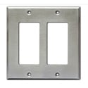 RDL CP-2S Double Cover Plate - stainless steel