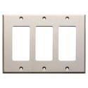 RDL CP-3 Triple Cover Plate - White