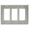 RDL CP-3S Triple Cover Plate - stainless steel