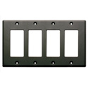 RDL CP-4B Quadruple Cover Plate - black