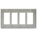 RDL CP-4S Quadruple Cover Plate - stainless steel