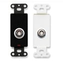 RDL DB-BNC/D Insulated Double BNC Jack on Decora Wall Plate