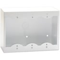 RDL SMB-3W 3-Gang Surface Mount Box for Decora Remote Controls and Panels - White