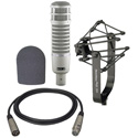 Electrovoice RE20 with 309A Suspension Mount - Foam Windscreen and 15 foot XLR Male to Female Cable Kit