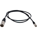 Remote Audio CAPWRHIRWSD XLR4M to 4 Pin Hirose Power Cable - 4 Foot