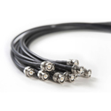 RF Venue RG8X2-10 RG8X 50 Ohm Coaxial BNC Male to Male Antenna Cable - 2 Foot - 10 Pack