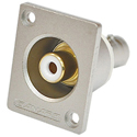 Canare RJ-BCJRU Recessed RCA to BNC Jack Chassis Mount w/White Insert