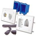 Rapid Link RL121204-WH Power In-Wall Power and Rated AV Cable Installation KIt