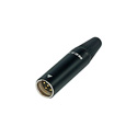 Rean RT4MC-B Tiny XLR 4-Pole Male - Black Shell Gold Contacts