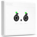 Rane RAD22 Universal Wall RAD - 2 Mic / 2 Line Inputs Via XLR/TRS Combo Jacks & 1/8 Inch (3.5mm) Stereo Line Output