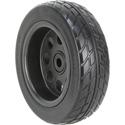 RocknRoller RWHLO10X3BK R-Trac Rear Wheel 2-Pk 10 x 3 Inch No-Flat (Pair of Wheels R10/R12 & R18) Offset Hub Black