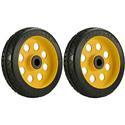 RocknRoller RWHLO8X2 8 Inch x 2 Inch R-Trac Rear Wheel for R6 / R8 / R14 - 2 Pack - Yellow Hub