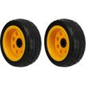 RocknRoller RWHLO8X3 8 Inch x 3 Inch Ground Glider Wheel with Offset Hub - Rear Wheel Upgrade for R6/R8/R14/R16 - 2 Pack