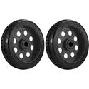 RocknRoller RWHLS8X2BK 8 Inch x 2 Inch R-Trac Symmetrical Wheel for R12 Caster - 2 Pack - Black Hub