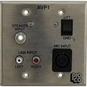 RAPCO AVP1-STS Audio Visual Passive Interface Wallplate
