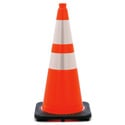 28 Inch Wide Body Traffic Safety Cone with EZ Grip Top and Reflective Collars - 6 Pack