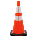 28 Inch Wide Body Traffic Safety Cone with EZ Grip Top and Reflective Collars -6 Pack