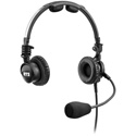 RTS LH-302 Double-Sided Headset Dynamic Mic - XLR 4-Pin Male Connector