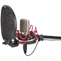 Rycote 045003 InVision Studio Kit-L with USM-L Studio Mount & Pop Filter
