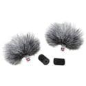 Rycote 065502 Gray Lavalier Windjammers (Pair)