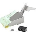 Simply45 S45-1150 Shielded External Ground Standard WE/SS RJ45 Mod Plugs for Cat6 STP and Cat6a F/UTP - 40pc