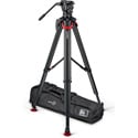 Sachtler S2072S-FTMS System aktiv10 Sideload with Flowtech 100 Tripod/Mid-level Spreader/Carry Handle and Bag