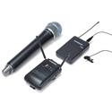 Samson SWC88VBH108-D Concert 88 Camera UHF Wireless System w/ Handheld Q8 & Lavalier LM10 (D Chan.) - Li-ion Batt. Incl.