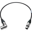 Sescom SC1.5XAXJ Audio Cable Canare Star-Quad Right Angle 3-Pin XLR Male to 3-Pin XLR Female - 1.5 Foot