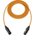 Sescom SC1.5XXJOE/B Canare Star-Quad Microphone Cable with Black & Gold XLR - Orange - 1.5 Foot