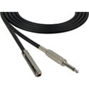 Sescom SC100SSJ Audio Cable Canare Star-Quad 1/4 TS Mono Male to 1/4 TS Mono Female Black - 100 Foot