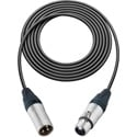 Sescom SC10XXJ Mic Cable Canare Star-Quad 3-Pin XLR Male to 3-Pin XLR Female Black - 10 Foot