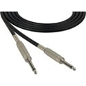 Sescom SC15SS Audio Cable Canare Star-Quad 1/4 TS Mono Male to 1/4 TS Mono Male Black - 15 Foot