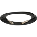 Sescom SC20SJZMZ Audio Cable Canare Star-Quad 1/4 TRS Balanced Female to 3.5mm TRS Balanced Male Black - 20 Foot